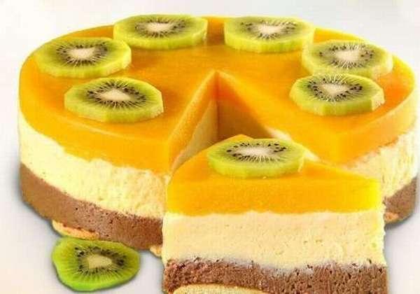Банановый йогуртовый торт