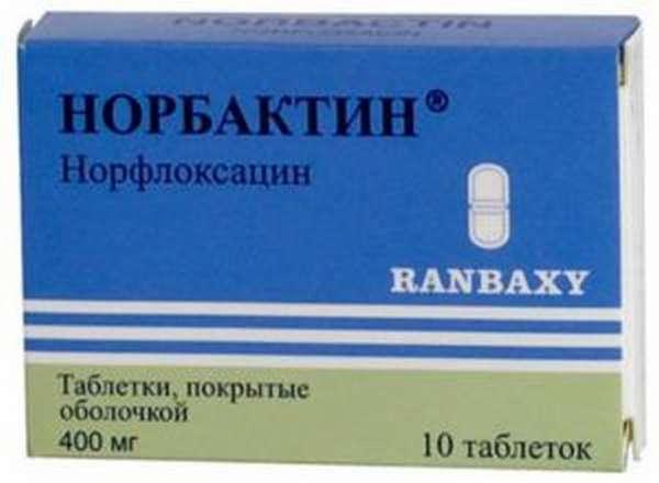 Таблетки от цистита норбактин