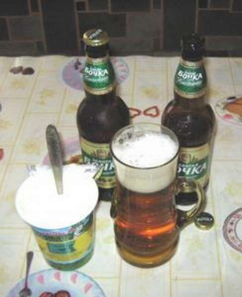 Рецепт стандартный - сметана и пиво