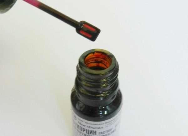 Инструкция по нанесению Фукорцина на кожу пораженную герпесвирусом