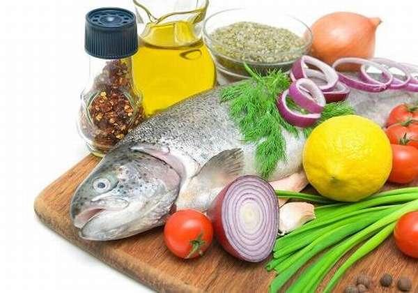 Рыба, овощи, масло растительное