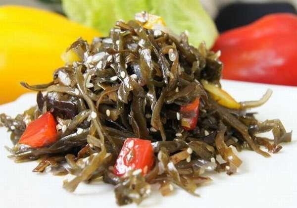 салат с ламинарией