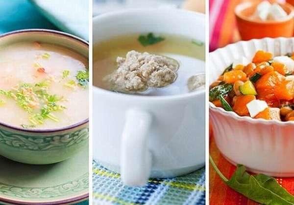 суп-пюре и овощи