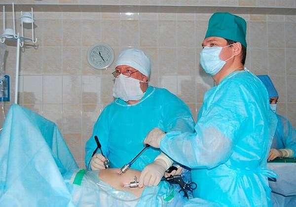лапароскопия в процессе