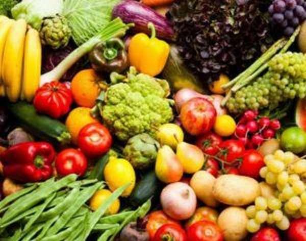 Рекомендуется принимать фрукты и овощи