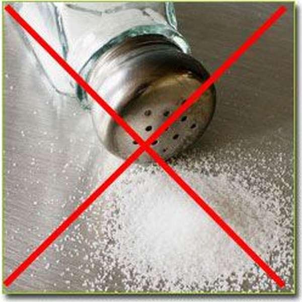 практически полностью ограничивается приём поваренной соли